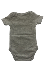 Baby deLuxe: Romper grijs not allowed to date ever - BDL