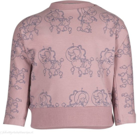 Noeser: Belle Batwing with seam AOP poodle pink