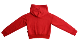 Levi's: Cropped Hoody - Red