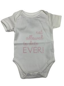 Baby de Luxe: Romper wit not allowed to date ever - BDL