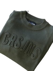 Cars Jeans: Trui Embossed crewneck- army green