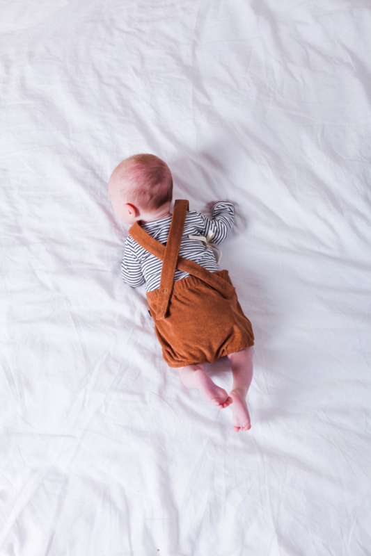House of Jamie: Baby Salopette Terry - Toffee