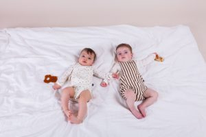 House of Jamie: Baby Salopette - Toffee stripes