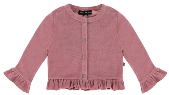 House of Jamie: Frill Cardigan - Orchid