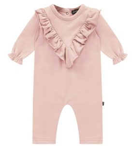 House of Jamie: Front ruffled Jumpsuit - Powder Pink