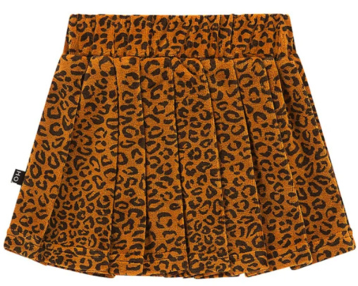House of Jamie: Pleated skirt - Golden Brown Leopard