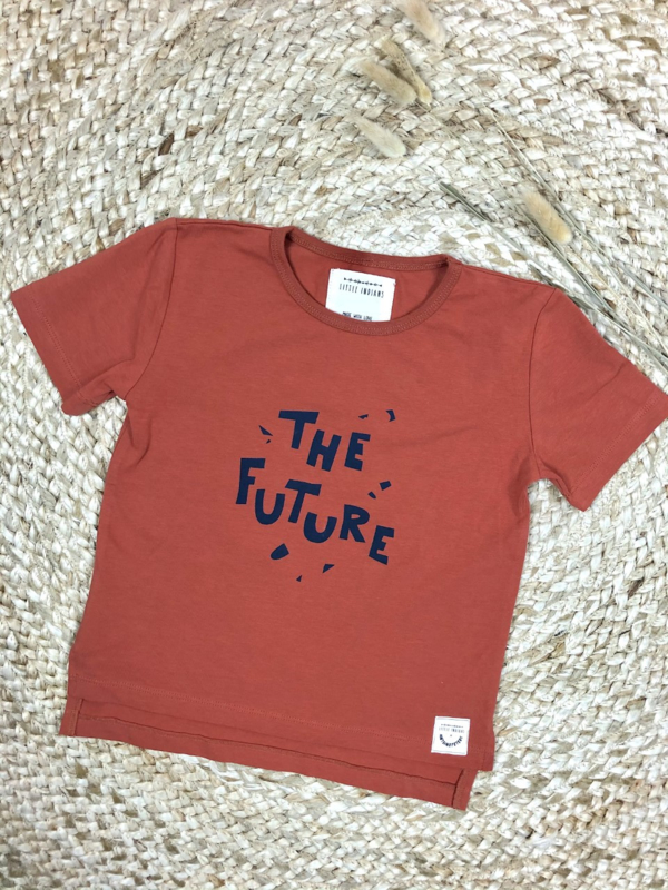 Little Indians: T-shirt The Future - Baked Clay