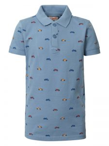 Petrol: Polo all over print motorcycle - light blue
