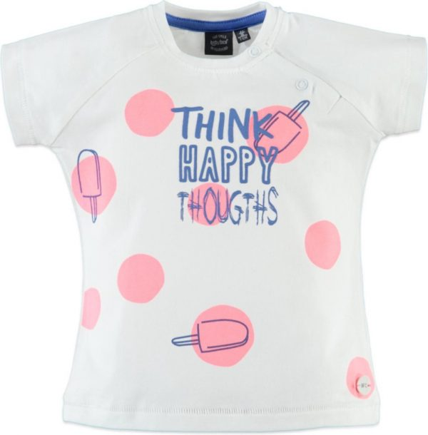 Babyface: T-shirt happy thoughts - Neon Pink
