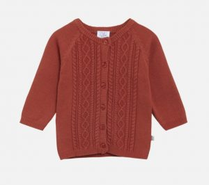 Hust&Claire: Cardigan Cammie bruin