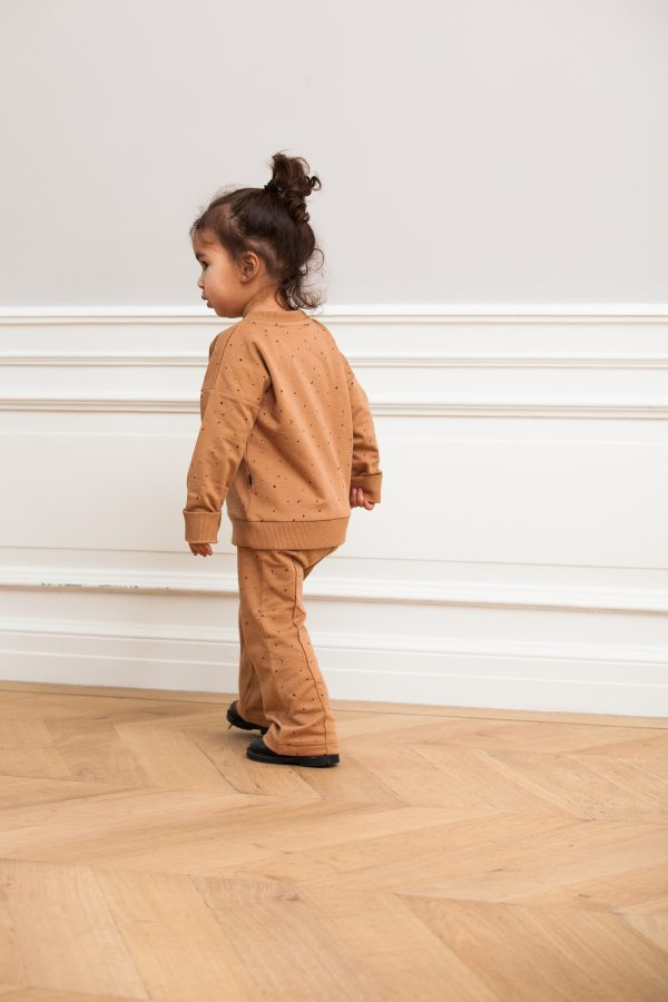 House of Jamie: Flared Pants - Little Stars Mocca