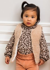 House of Jamie: Frill Collar - Rosewood Leopard
