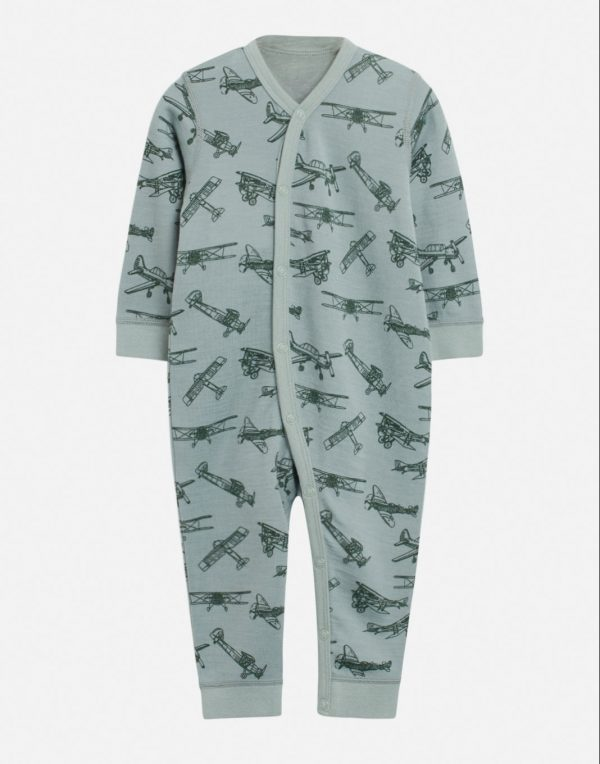 Hust & Claire: Mala nightwear airplanes blue - Luxury Basics Collection