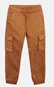 Hust and Claire: Terry Cargo Pants- Camel bruin