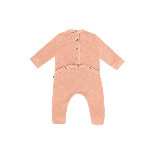 House of Jamie: Bow Tie Babysuit - Little Stars Mocca