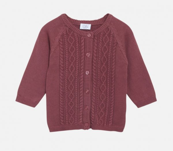 Hust&Claire: Cardigan Cammie paars