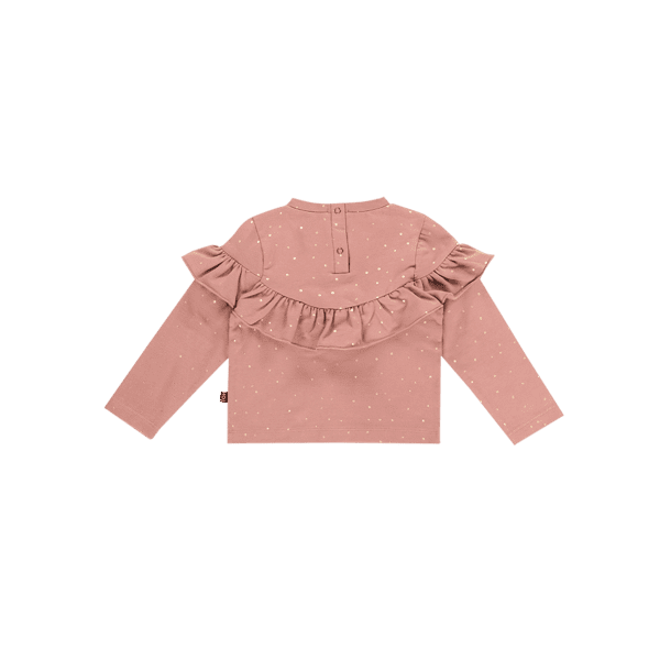 House of Jamie: Volant Sweater - Dusty Mauve Golden Dots