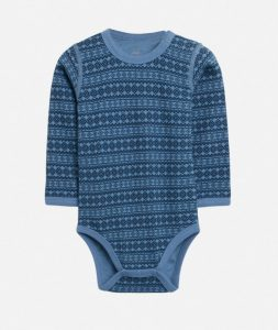 Hust & Claire: Romper Baloo - Snowflafes blue - Luxury Basics Collection