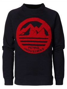 Petrol Industries: Sweater mountain red terry